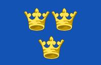 Medieval Kingdom of Sweden flag