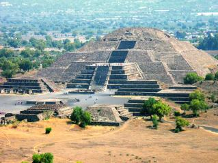 Ancient city of Teotihuacan, Mexico, sacked by invaders in the 7th century