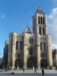 St. Denis Abbey, outside Paris, rebuilt in Gothic architecture in 1136