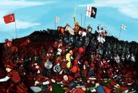King David IV's Georgian army and Crusader allies defeat the Seljuks, 1121