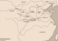 Map of China's 16 kingdoms (304-439)