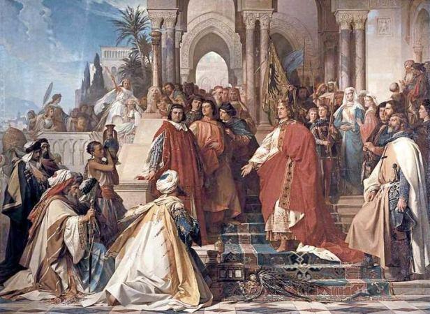 Frederick II retakes Jerusalem in the 6th Crusade, 1229