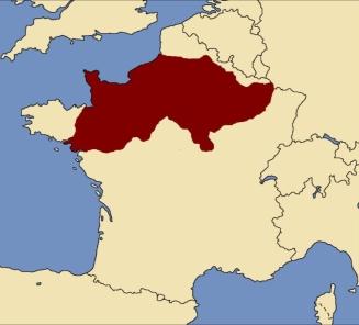 Territory of Roman Soissons in Gaul held by Aegidius since 461