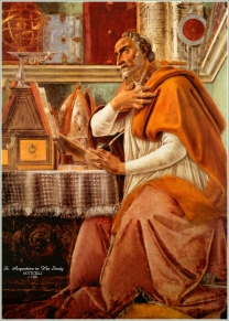 """St. Augustine, bishop of Hippo writes """"City of God"""", 413"""