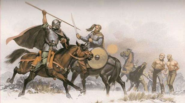 Suevi tribes invade Spain