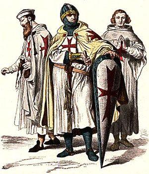 Knights Templar Order, founded in 1119 in Crusader Jerusalem