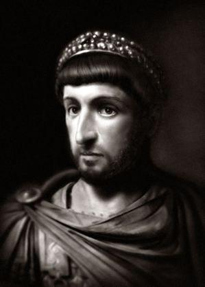 Byzantine emperor Theodosius II (r. 408-450)