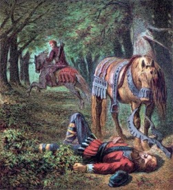 Death of King William II of England at the New Forest, 1100