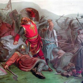 St. Olaf II, King of Norway killed by Pagan vassals in battle, 1030