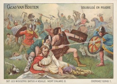Battle of Vouille in 507, Clovis I defeats the Visigoths in France