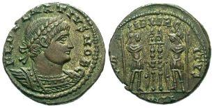 Coin of Calocaerus, Roman usurper in Cyprus, 334