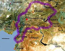 Location of Philaretos Brachamios' territory (1071-1078)