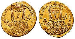 Coin of Bardanes Tourkos, Byzantine usurper (803)