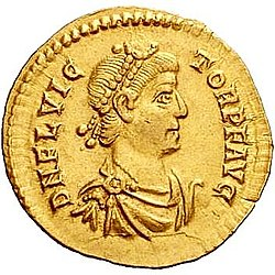 Coin of Flavius Victor, son and co-emperor of Magnus Maximus (r. 384-388)
