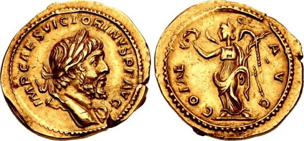 Coin of Gallic emperor Victorinus (r. 269-271)