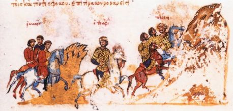 Byzantine forces led by Theophobos defeated by the Arabs at the Battle of Anzen, 838