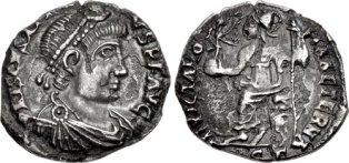 Coin of Heraclianus, usurper emperor in North Africa (r. 412-413)