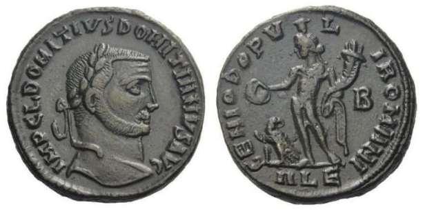 Coin of Domitius Domitianus, usurper in Egypt, 297