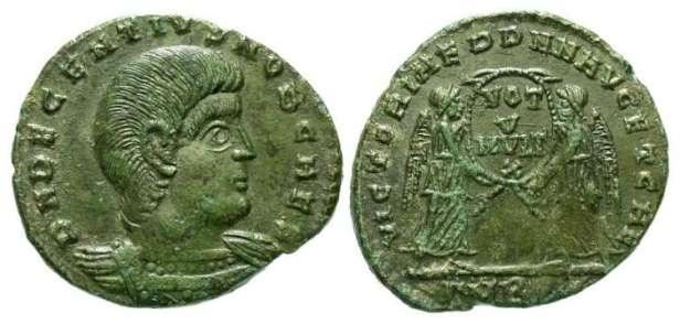 Decentius, brother and co-emperor of Magnentius (r. 350-353)