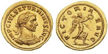 Coin of Julius Saturninus, usurper against Probus in 280