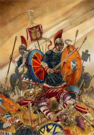 Constantius II's army defeats Magnentius' army, 353