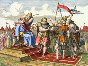Alaric deposes puppet emperor Priscus Attalus, 410