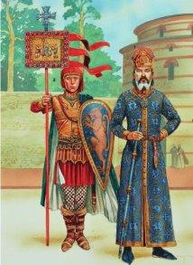 Syrgiannes Palaiologos (left), usurper against Andronikos III (1333-1334)