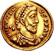 Coin of the usurper emperor Flavius Eugenius of the west (r. 392-394)