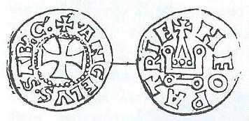 Coin of John I Doukas Angelos, Ruler of Thessaly (1268-1289), usurper against Michael VIII (1280-1282)