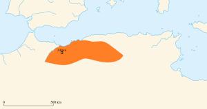 Location of Stotzas' Mauro-Roman Kingdom in North Africa