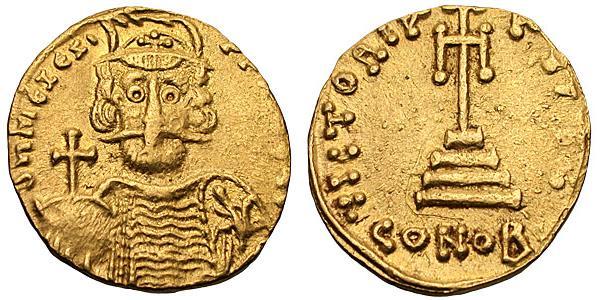 Coin of Mizizios, usurper in Sicily (668-669)