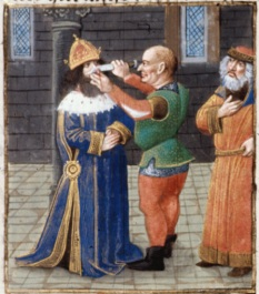 Justinian II's nose mutilated, 695