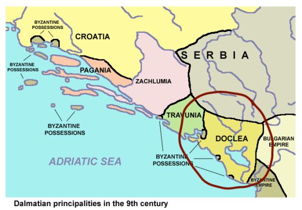 Location of the Principality of Duklja