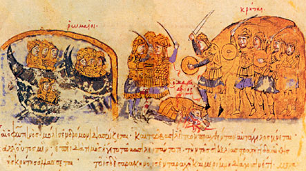 Alexios I's army arrives in Crete to battle Karykes, 1093