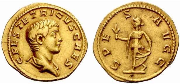 Coin of Tetricus II, son of Tetricus I and Gallic co-emperor 273-274