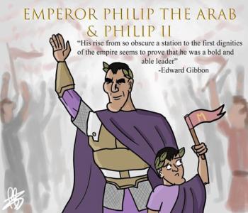 Emperor Philip I the Arab and his son co-emperor Philip II