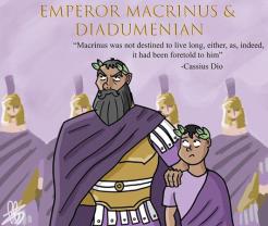 Emperor Macrinus (r. 217-218, left) and son Diadumenian (right)