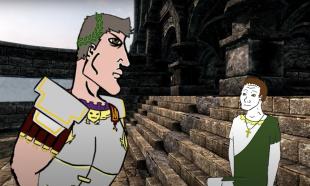 Emperor Constantius II (left) and his new Caesar Julian (right), 355