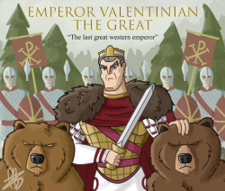 Emperor Valentinian I the Great of the west (r. 364-375)