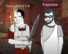 Arbogast (left) and his puppet emperor Eugenius (right)