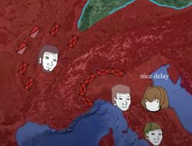 Blockade of the Alps against Magnus Maximus (left)