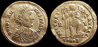 Coin of western emperor Joannes (r. 423-425)