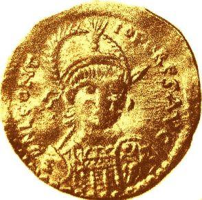 Coin of the usurper emperor Leontius (r. 484-488)
