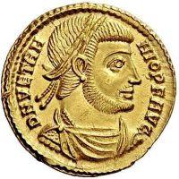 Coin of Emperor Vetranio (r. 350)