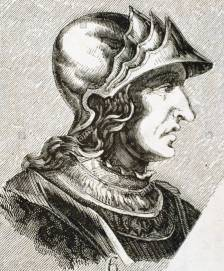 King Theodoric II of the Visigoths (r. 453-466)