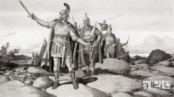 Probus and his army enter Gaul, 280