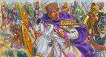Emperor Valens riding to battle, 378
