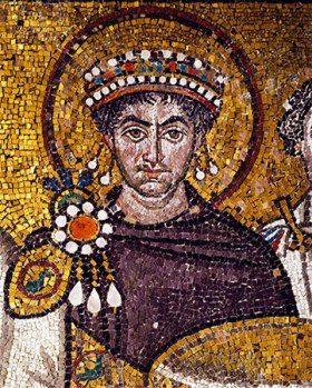 Emperor Justinian I the Great of Byzantium (r. 527-565)