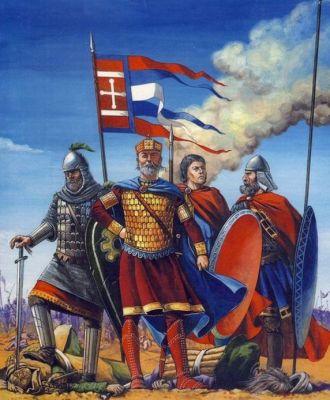 Basil II leading the armies