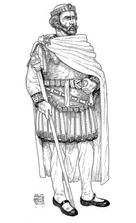 Emperor Procopius Anthemius of the west (r. 467-472), born in Constantinople, 420